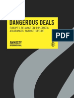 Dangerous Deals Europe's Reliance on Diplomatic Assurances Against Torture