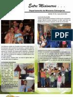 Boletin 155 INFORME MISIONERO DEL SALVADOR - MARZO DE 2010