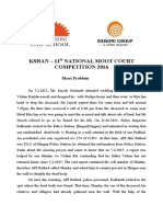 11th Kshan Moot Problem FINAL