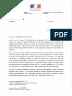 Marseille - Courrier de N. Vallaud-Belkacem et P. Kanner
