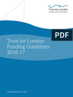 Trust for London Guidelines