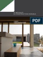 Beton Et Construction Durable