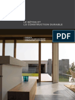 Beton Et Construction Durable