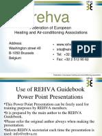 Rehva Guidebook 10 Presentation