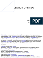 Regulation of Lipids
