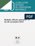 Bulletin officiel spécial de l'Education nationale
