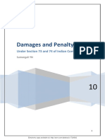 Damages and Penalty Under Sec 73 & 74 of ICA