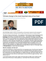 'Climate Change is the Most Important Story of Our Lives' - The Hindu Mobile Edition