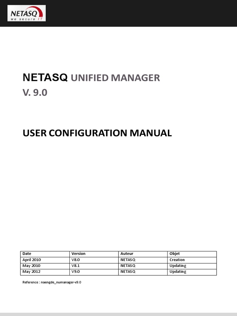 netasq unified manager