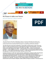No Frisson in Talks Over Fission NPT and NWS - The Hindu Mobile Edition