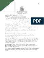 Mayor Bill de Blasio's State of the City Address, One New York - Working for Our Neighborhoods