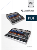 XR 1212 & XR 1220 Powered Mixing consoles
