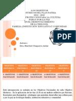 LOS CINCO OBJETIVOS Historicos en La Proyeción de La Cultura Para y Por La Paz en La Trilogía Familia , Instituciones Educativas y Comunidad.