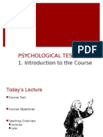 Psych Testing Lecture 1