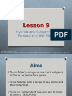 Lesson-9 Fantasy and War Avatar and Hurtlocker