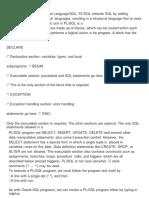 Basic Structure of PL SQL
