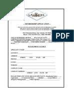 SAAREB - Membership Application