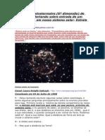 2012-Aviso Sobre Chegada de ASTRO INTRUSO Em Nosso Sistema Solar