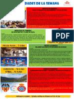 Actividades de la Escuela de Español  08 - 14 Febrero