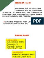 diagram alir pabrik Petrokimia Gresik ZA I dan III
