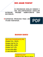 diagram alir pabrik Petrokimia Gresik Asam Fosfat
