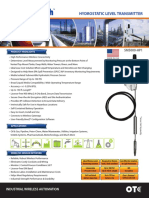 Hydrostatic Level Transmitter Datasheet OTC