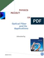 Physics Project on optical fiber