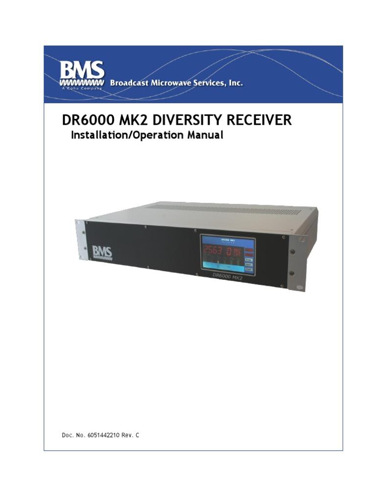 DR6000 MK2 Diversity Receiver Manual, Installation & Operation ...