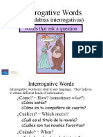 Spanish Question Words Powerpoint Presentation Palabras Interrogativas