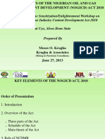Key Elements the Nigerian Oil and Gas Content Development