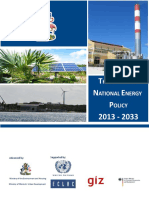 The Bahamas National Energy Policy 2013-2033