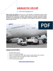 Ground Support Equipment for aircraft