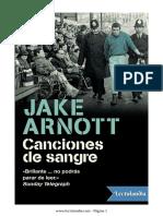 Canciones de Sangre - Jake Arnott