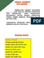 diagram alir pabrik Petrokimia Cement Retarder