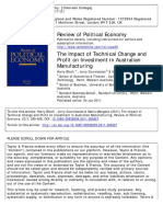 Bloch, H., Courvisanos, J., & Mangano, M. (2011). the Impact of Technical Change and Profit on Investment in Australian Manufacturing. Review of Political Economy, 23(3), 389-408.
