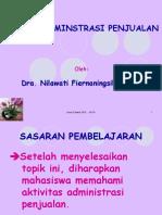 Administrasi Penjualan - Konsep Administrasi Penjualan(Nila-2010)