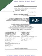 Perry v. Schwarzenneger Plaintiffs-Appellees Brief, No. 10-15649 (9th Cir. Apr. 9, 2010)