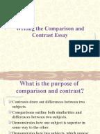 essay pattenr point by point comparison