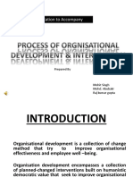 PROCESS OF ORGNISATIONAL DEVELOPMENT & INTERVENTION