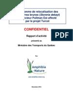 Amphibia-Nature Rapport-3 Turcot 2012 Info