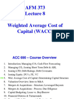 AFM 373 Hayes Lecture 8 Capital Structure & WAAC