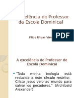 A Excelncia Do Professor Da Escola Dominical