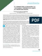 Procedimientos y Criterios Para La Evaluación y La Intervención