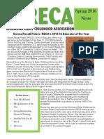 RECA Newsletter Spring 2016