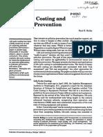 Calculo Del Costo de Ciclo de Vida y La Prevencion de Contaminación