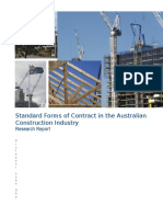 Research Report - Standard Forms of Contract in the Australian Construction Industry