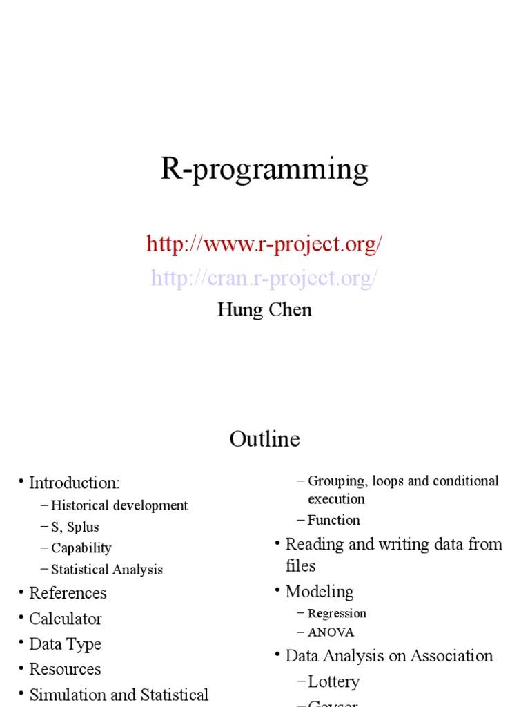 R Programming | R (Programming Language) | Resampling