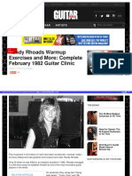 Randy rhoads guitar clinic