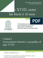 Cronograma de Sesiones Cronograma de sesiones y exposiciones y exposiciones curso electivo Siglo XVIII
