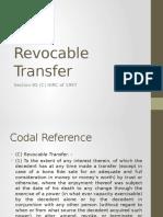 Revocable Transfer